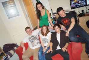 Cast and crew from the Whovians Web Series attending Scifi Wales
